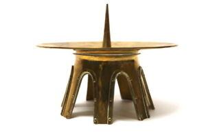 Art-Deco-Kerzenhalter-Altarleuchter-Messing