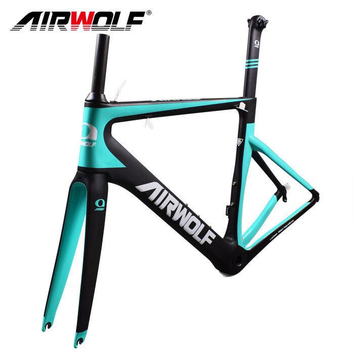 Full carbon fiber bike frame 48-56cm carbon road bike frameset fork seatpost