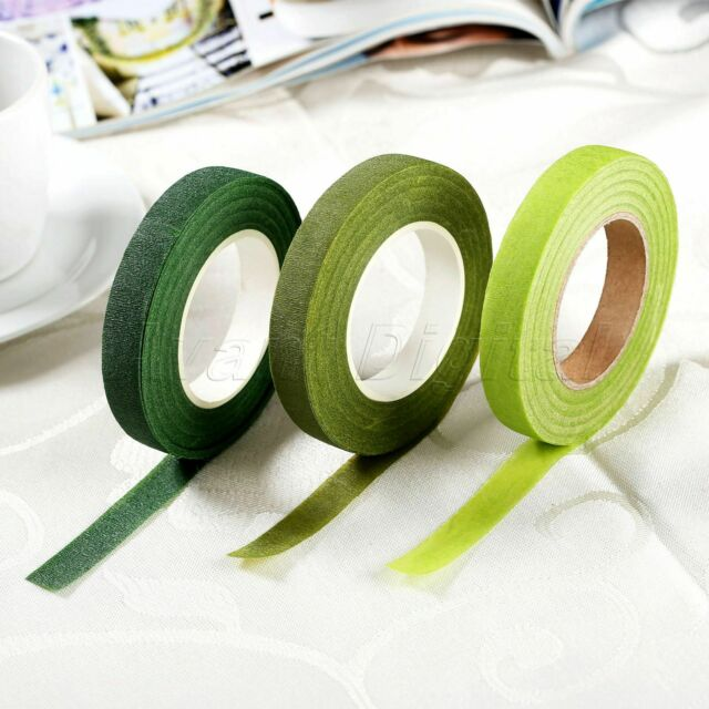 Florist Green Floral Stem Tape Corsage Buttonhole Artificial Flower Stamen Wraps
