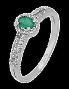 Smaragd-amp-Diamant-Ring-Diamantring-750-er-18-Karat-Weissgold