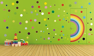 Polka dot stickers, vinyl wall stickers, wall art, decals - 17 to 200  - WS1029