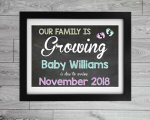 printed baby announcement