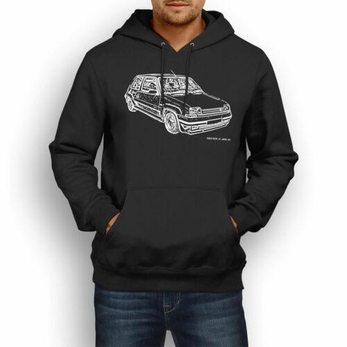 JL Illustration For A Renault 5 GT Turbo Motorcar Fan Hoodie