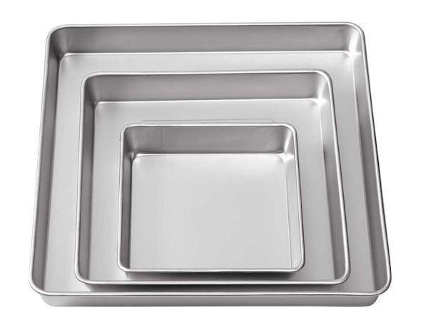 3 Tier Square Cake Baking Pan Set - 8,12, & 16 inches from Wilton 2132 - New