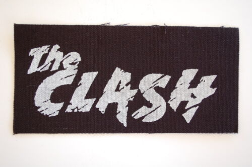 """The Clash Cloth Patch Sew On Badge Punk Ramones Rock Approx 6/""""X3/"""" CP7"""
