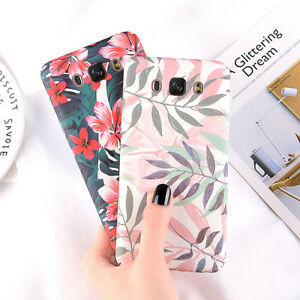 Shockproof-Matte-Phone-Case-Floral-Hard-Cover-For-Samsung-Galaxy-J5-C7-A3-S7-S8
