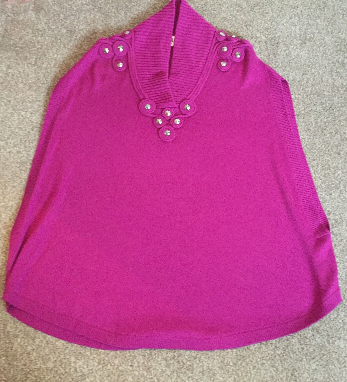 Alice By Temperley Marie Knitted Cape Size M Unworn Unworn Unworn Purple pinky Colour 0e11df