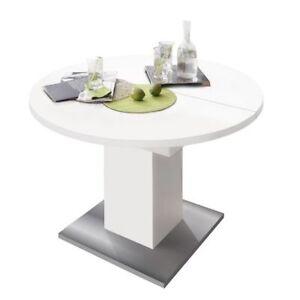 Lieblich Das Bild Wird Geladen Runder Tisch Kuechentisch Rund Esstisch Ausziehtisch  Erweiterbar Esstisch