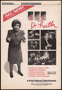ASK DR. RUTH__Original 1987 Trade print AD / TV promo / poster__Ruth Westheimer