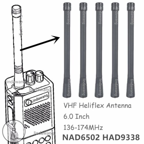 5x VHF Antenna NAD6502 for Motorola P110 P200 P210 P1225 Portable Radio
