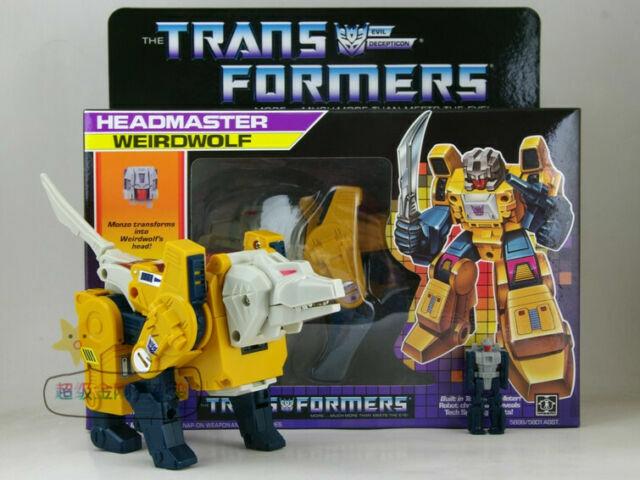 Transformers G1 Decepticon Headmaster Skullcruncher Reissue Figure SET MISB NEW