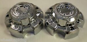Ultra Wheels Chrome Custom Wheel Center Caps Set Of 2 89