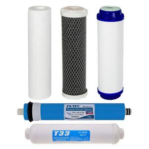 Paquet de filtres à eau de remplacement pour le système de purification à osmose inverse Vyair à 5 étapes