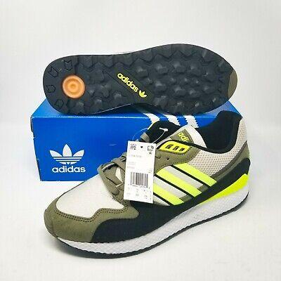 Adidas Ultra Tech Rétro Course BD7937 Blanc Jaune Kaki Olive Sz 12.5 Eur 47,5 | eBay