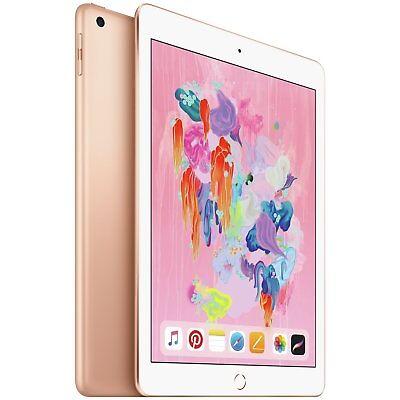 Apple iPad 2018 6th Gen 9.7 Inch Multi Touch LED Backlit IOS WiFi 128GB - Gold