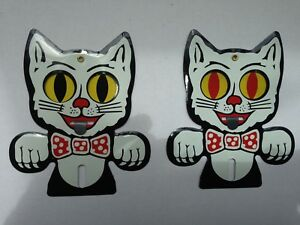 Hot-Rod-FELIX-CAT-ONE-license-plate-topper-KIT-CAT-ALL-METAL-UNIQUE-MECHANICAL