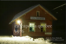 Canadian National Rwy     Cascapedia station Quebec 1976   Gaspe Peninsula xxx