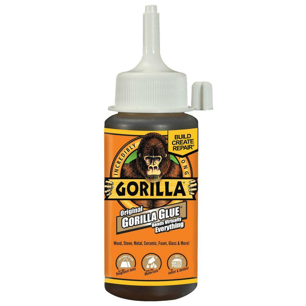 Gorilla Glue 115ml Super Waterproof Glue Wood Stone Metal