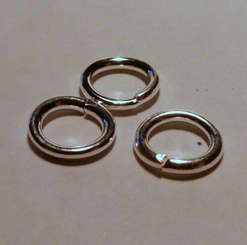 100 SP steel round jump rings 4.8mm X 2.8mm 0.9mm steel wire hard Machine made.