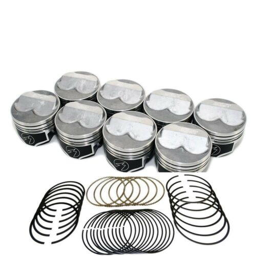 60 Speed Pro Chevy 350//5.7 Hypereutectic Coated Dome Pistons+MOLY Rings 10.9:1