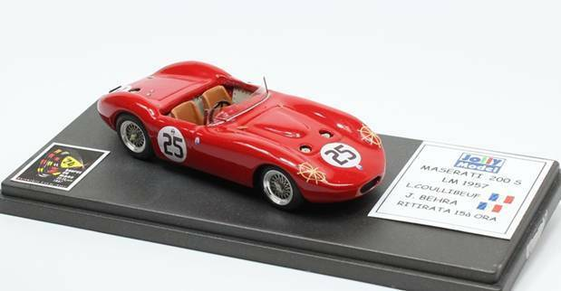 JOLLY MODEL JL6042 - MASERATI 200 S Le MAns 1957 Coullibeuf Behra N°25  1 43