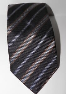 New-Joseph-Abboud-100-Silk-Tie-Black-Striped-Made-in-Italy-MSRP-79-50