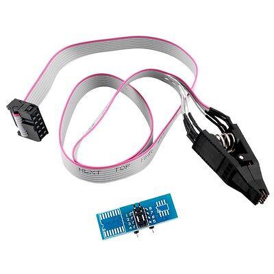 SOIC8 SOP8 Flash Chip IC Test Clips Socket Adpter BIOS/24/25/93 Programmer ER