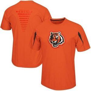 Cincinnati-Bengals-Synthetic-Cool-Base-Performance-Shirt-2XL-Fanfare-VII-Orange