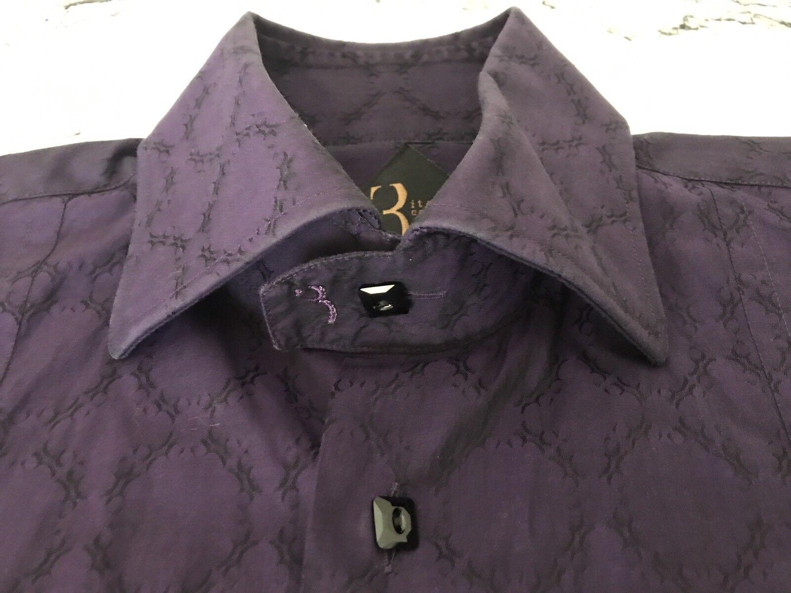 CAMICIA SHIRT hommes homme COTTON violet VIOLET BILLIONAIRE ITALIAN COUTURE Taille 41 L