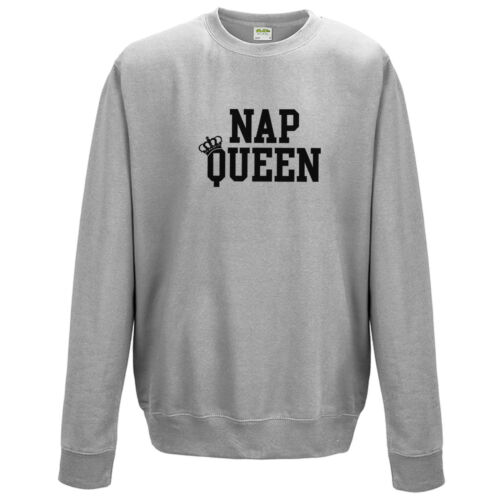 Nap queen sweat-shirt-funny sleeping lazy sleepy cadeau mode unisexe neuf