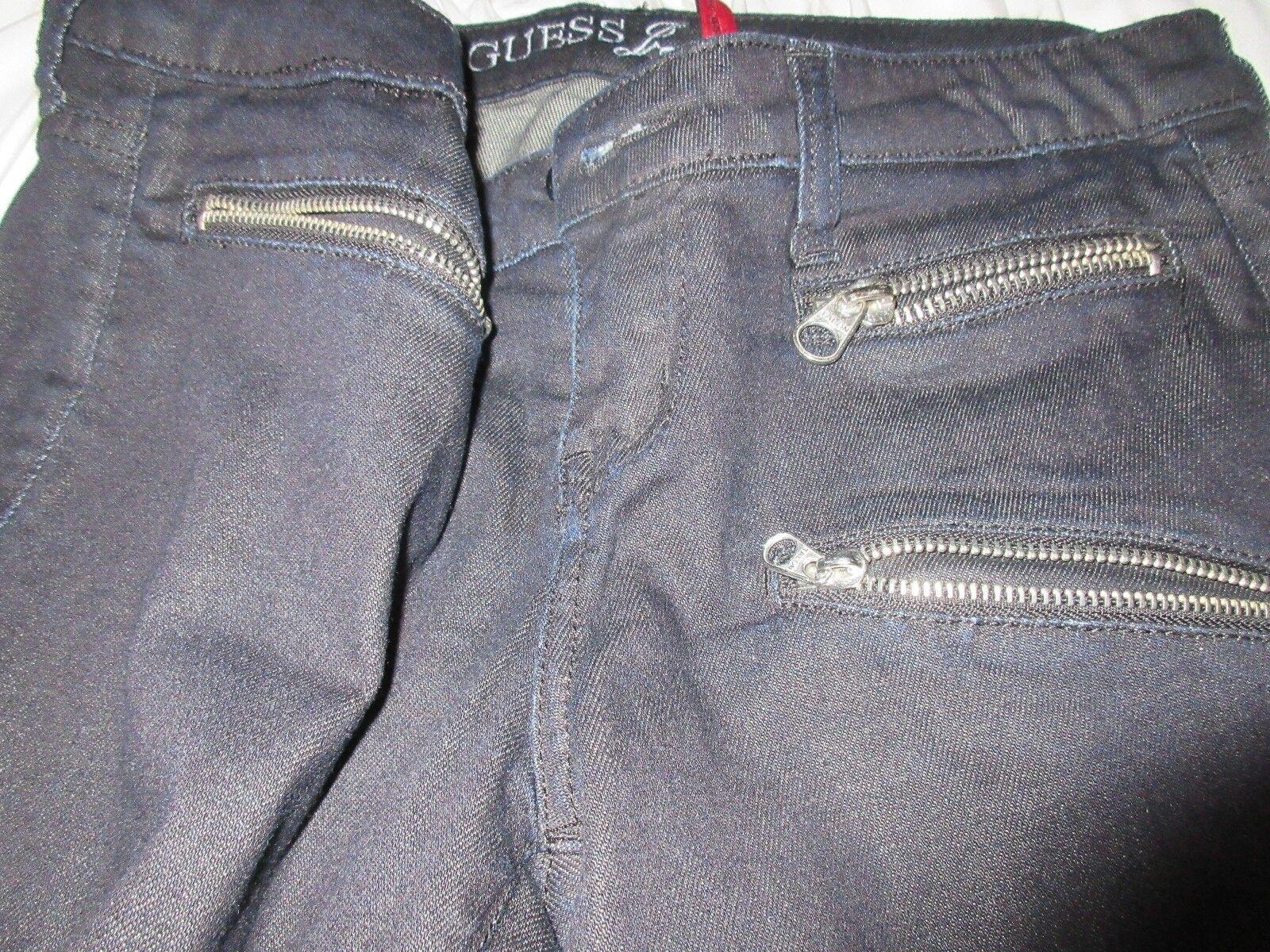 Guess Jeans , Power Skinny , Size 28 , Zipper Pockets ,