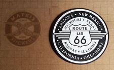 Logo adhésif gravé ROUTE 66 USA Harley Davidson - 8cm x 8cm - épaisseur 1,6mm