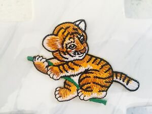 Tiger-Animal-Kids-Child-Baby-Embroidered-Iron-On-Patches-Patch