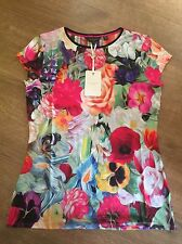 Ted Baker Floral Swirl Jersey Top Tee T-shirt BNWT ❤️ BRIANA SIZE 3 Uk 12