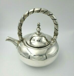 Classic-Style-Vintage-Sterling-Silver-Teapot-with-Twisted-Handle-9993