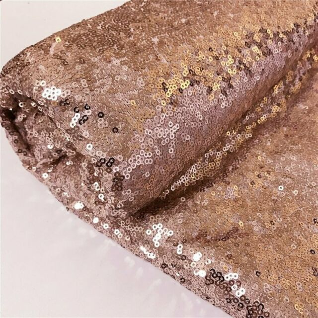 Rose Gold Sequin Fabric 50 yards 1 roll by The Yard, Sequin Fabric,, Sequin