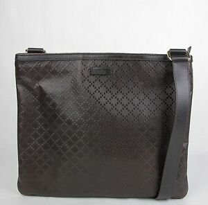 134ce2120bb679 Image is loading New-Gucci-Dark-Brown-Hilary-Lux-Diamante-Leather-
