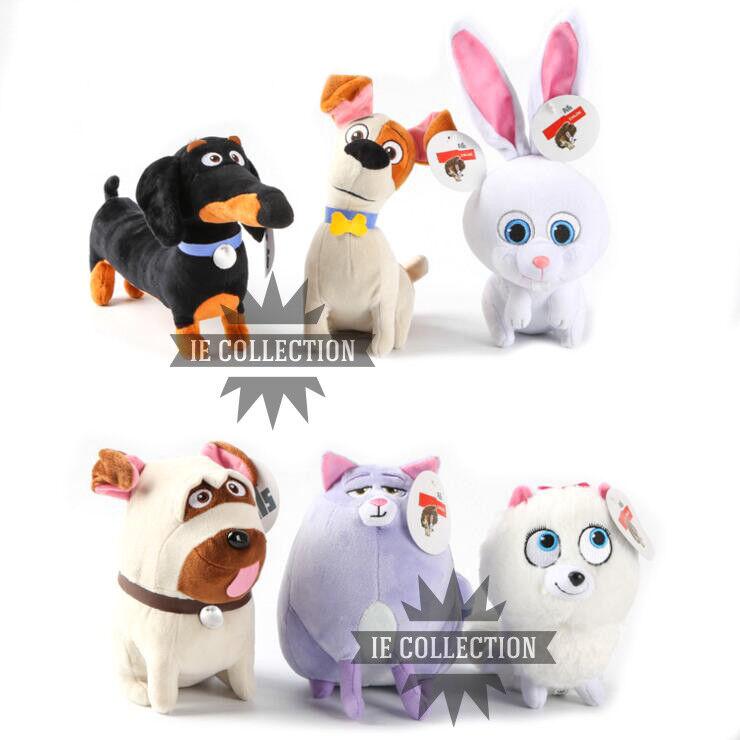 Haustiere Leben aus Tiere 6er Satz Plüsch Puppen Comme des bêtes The Secret