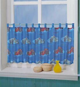 Details zu Kinderzimmer Scheibengardine Panneaux Rennauto Car Motiv 50 x  150 cm für Jungen