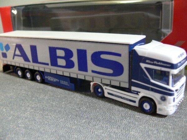 1 87 Herpa Scania R TL Gardinenplanen-SZ ALBIS     Pohlmann 305648 124ead