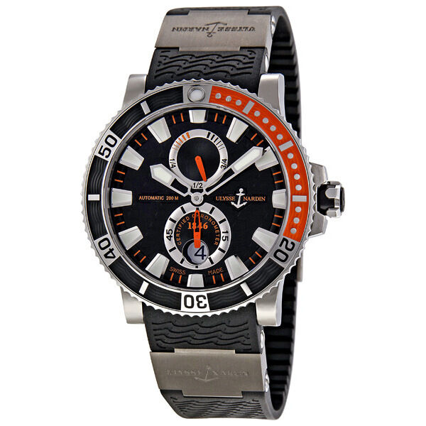 Ulysse Nardin Maxi Marine Diver Black Dial Titanium Mens Watch 263-90-3-92