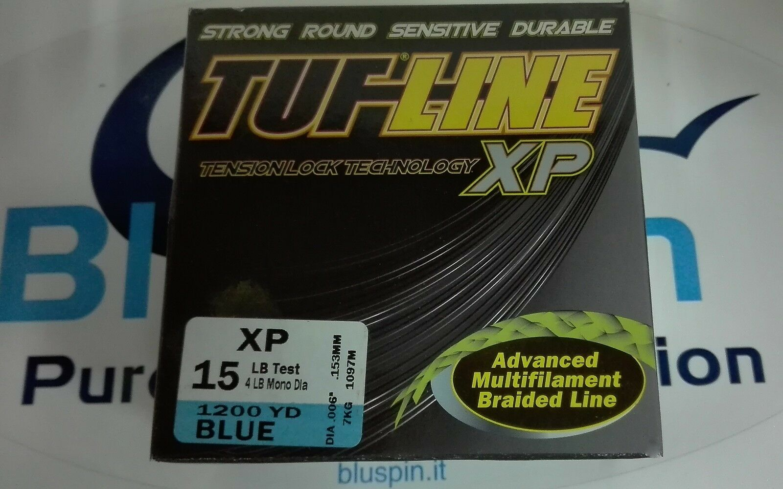 NEW TUFLINE XP ADVANCED BRAIDED LINE 15LB 1200YDS MADE  IN USA COL. blueE  first-class quality