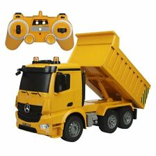 Silver and Yellow Lena Mercedes Benz Dump Truck Scale Model