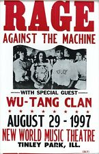 """Rage Against The Machine 14"""" X 22"""" Vintage Style Concert Poster"""