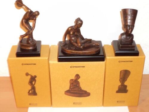 NEU /& OVP # 1 3 Skulpturen DISKUSWERFER 6 NYMPHE /& NOFRETETE aus Bronze 12