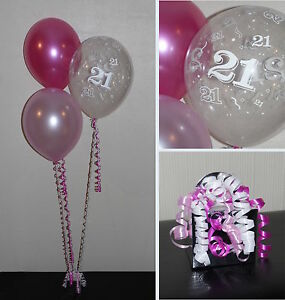 Image Is Loading 21st Birthday Balloons DIY Party Decoration Kit Clusters