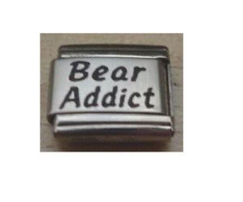 9mm Classic Size Italian Charm L53 Teddy Bears Bear Addict