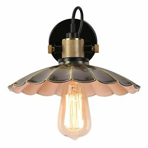 Moderne-Fleur-Abat-jour-Metal-Vintage-Retro-Applique-Murale-Lampe-Luminaire