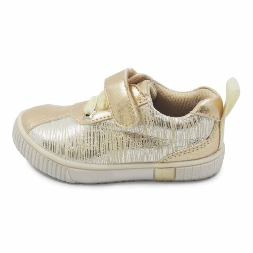 toddler size 6-13 NEW Livie /& Luca girls sneakers SPIN in Cream Tinsel