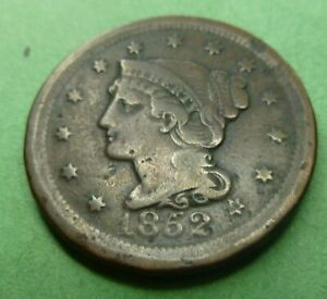 1852-Large-Cent-LC52A-Very-Nice-Coin-Better-grade